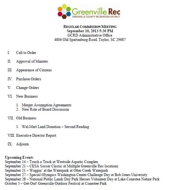 sept 2013 agenda