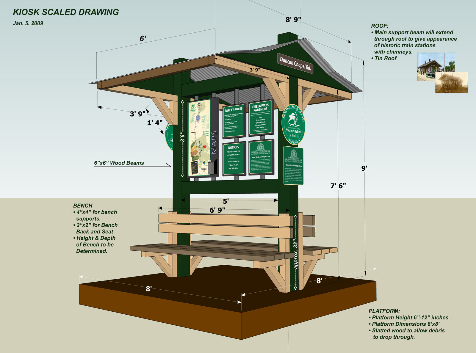 Park Kiosk Plans http://greenvillerec.com/studies-surveys