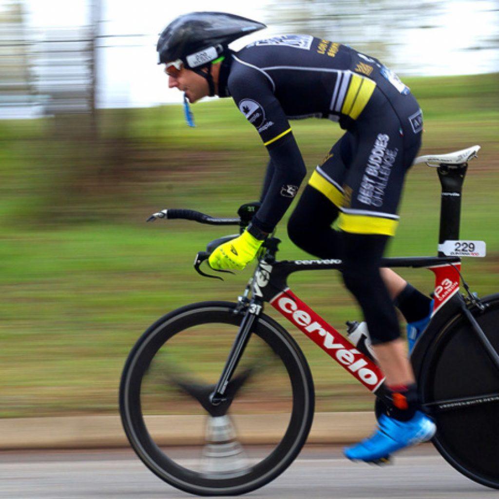 cyclist in duathalon