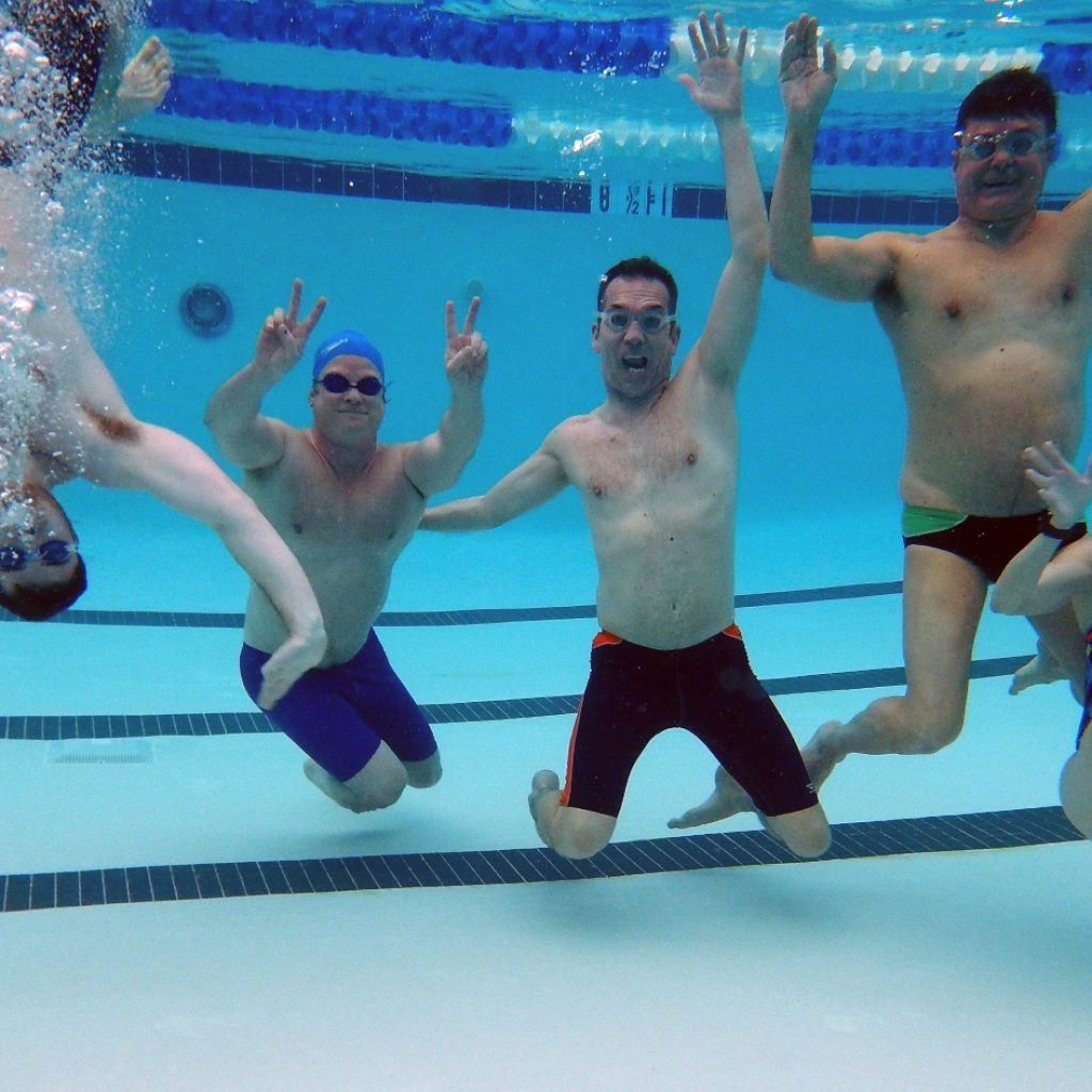 adult swimmers underwater