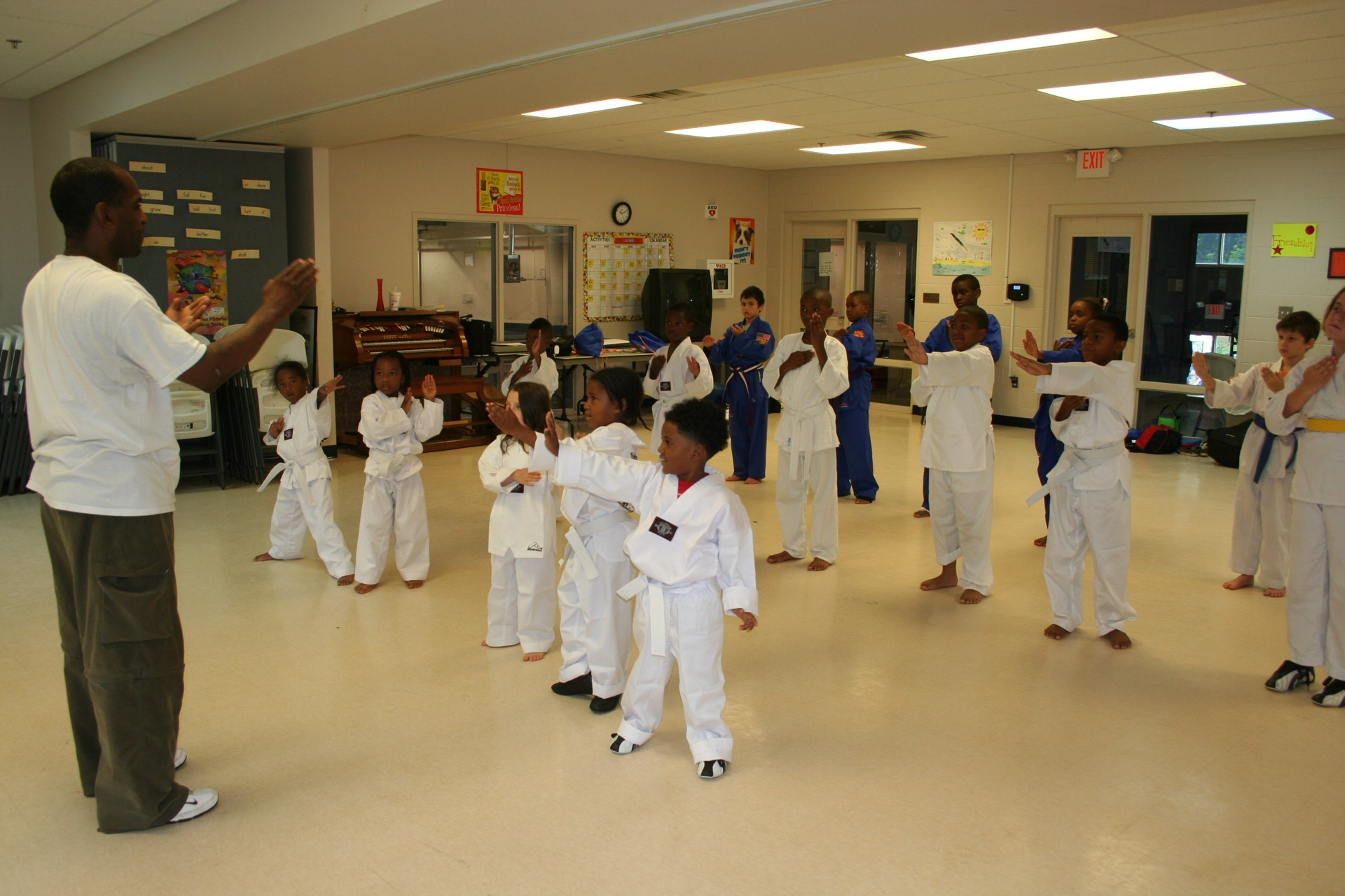 Karate Class in progress