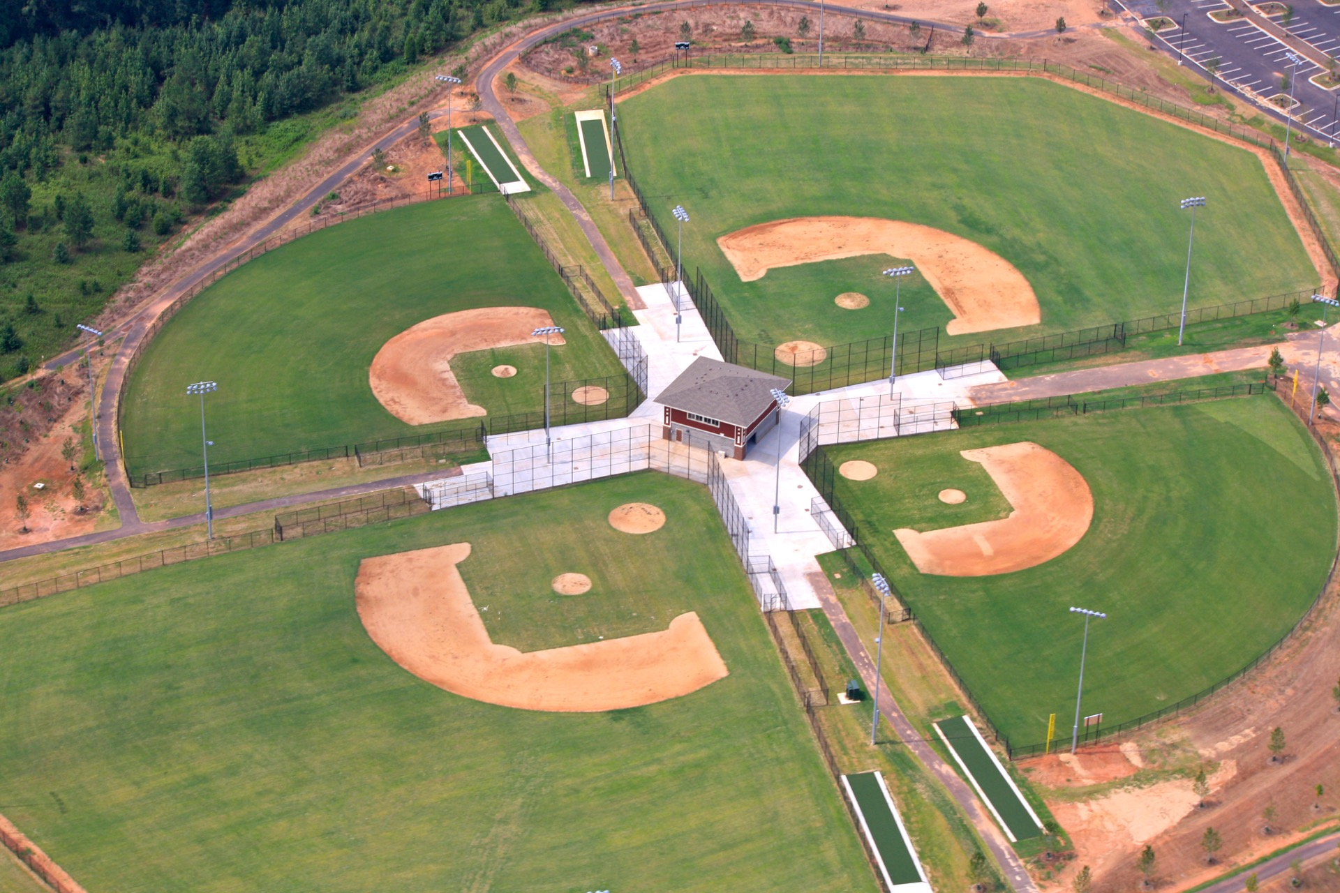 conestee park aerial view baseball fields