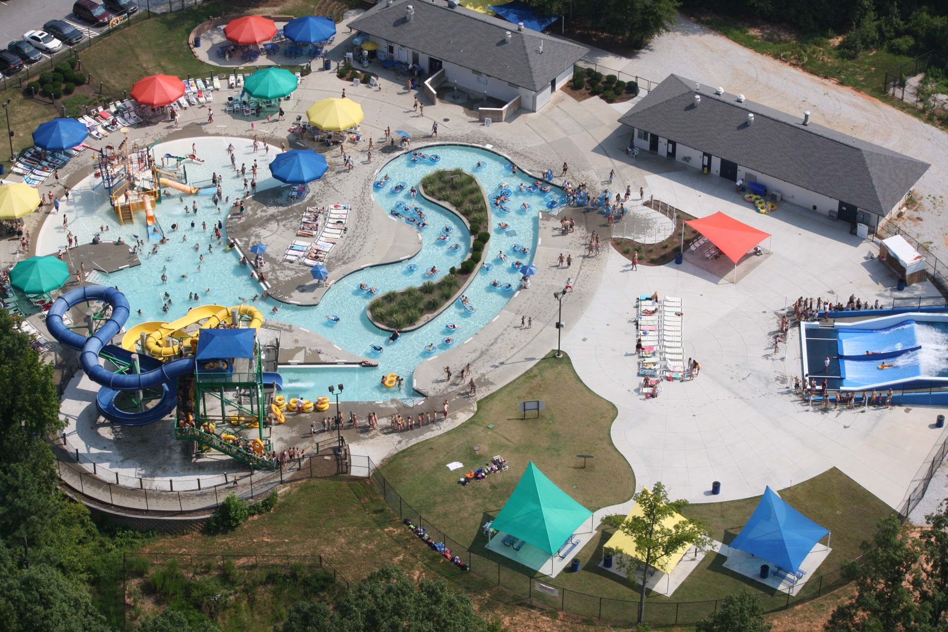 discovery island water park aerial view