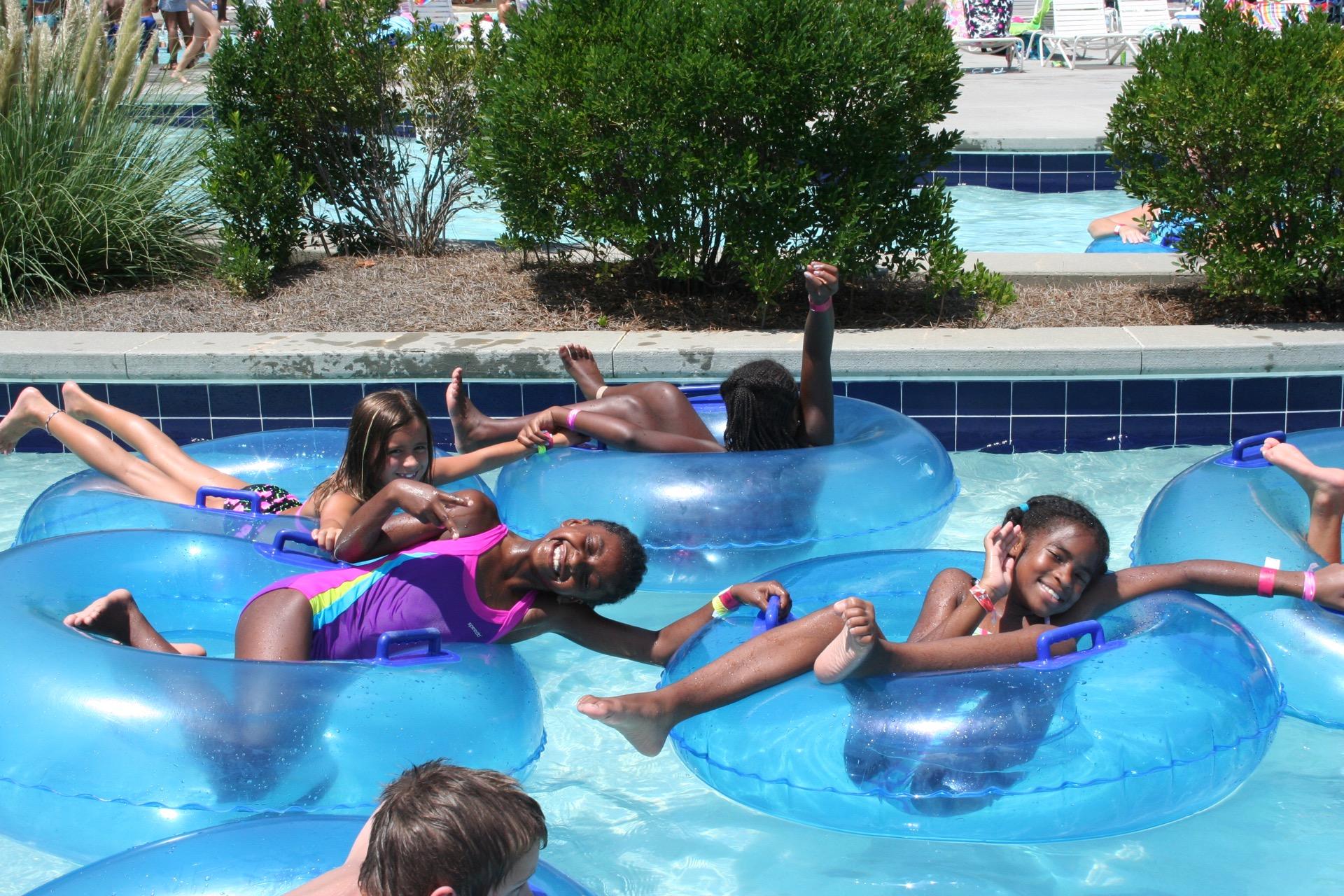 kids enjoying lazy river