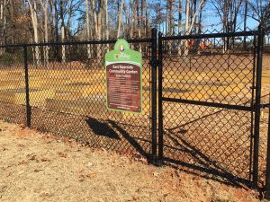 East Riverside Garden gate and sign