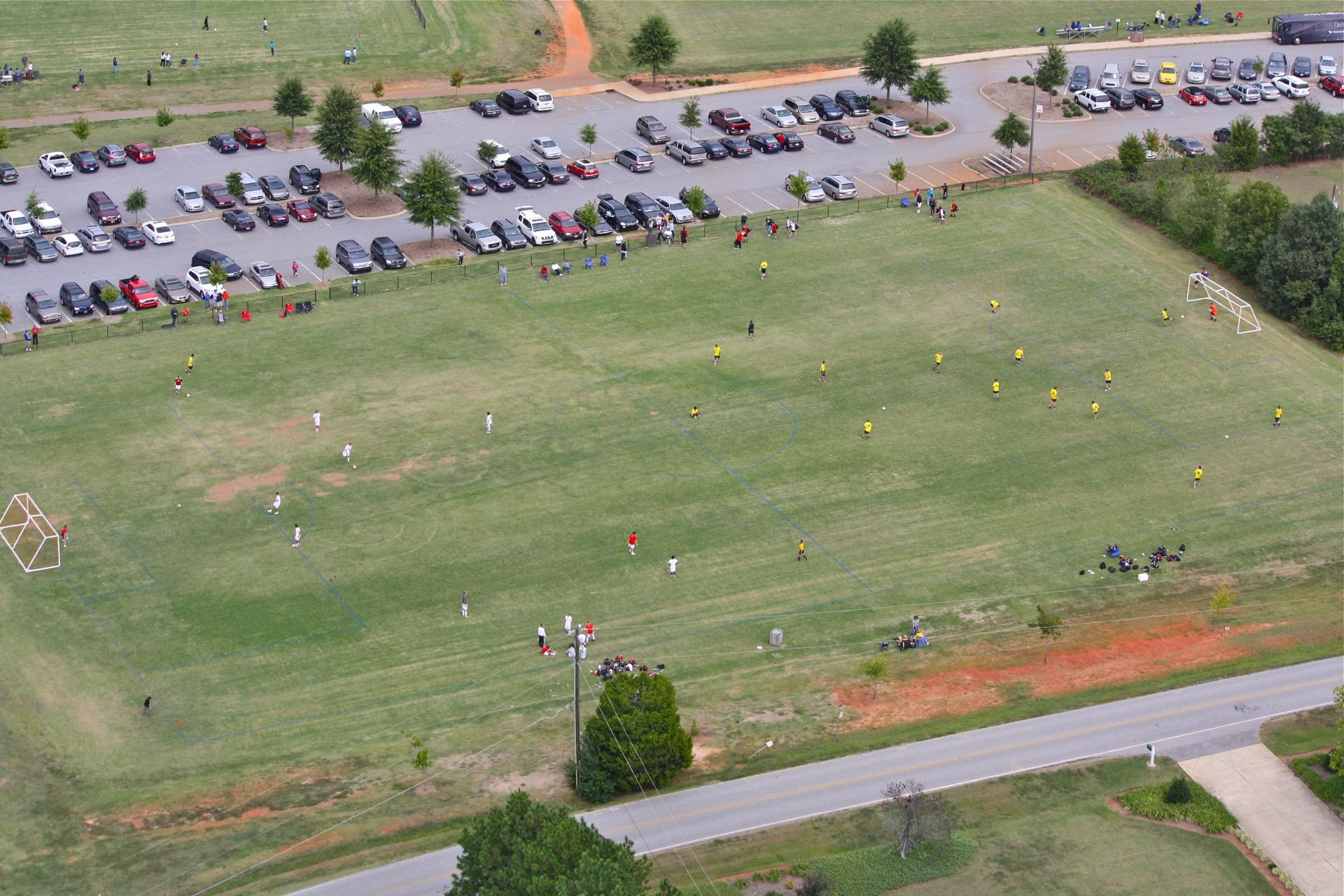 gary L. pittman park aerial view soccer field