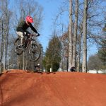 Mountain Bike Rider clearing a jump