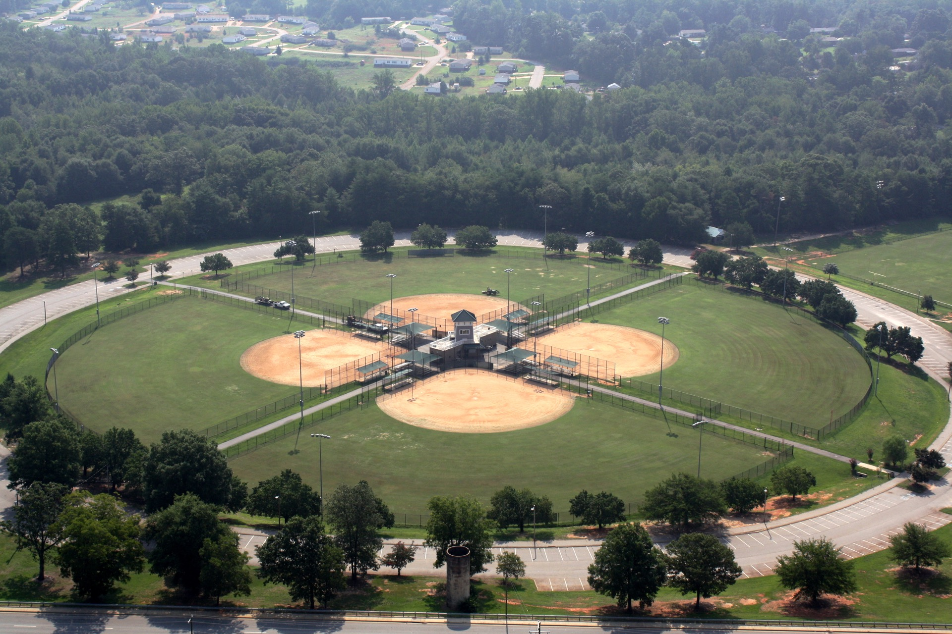 lakeside park aerial view