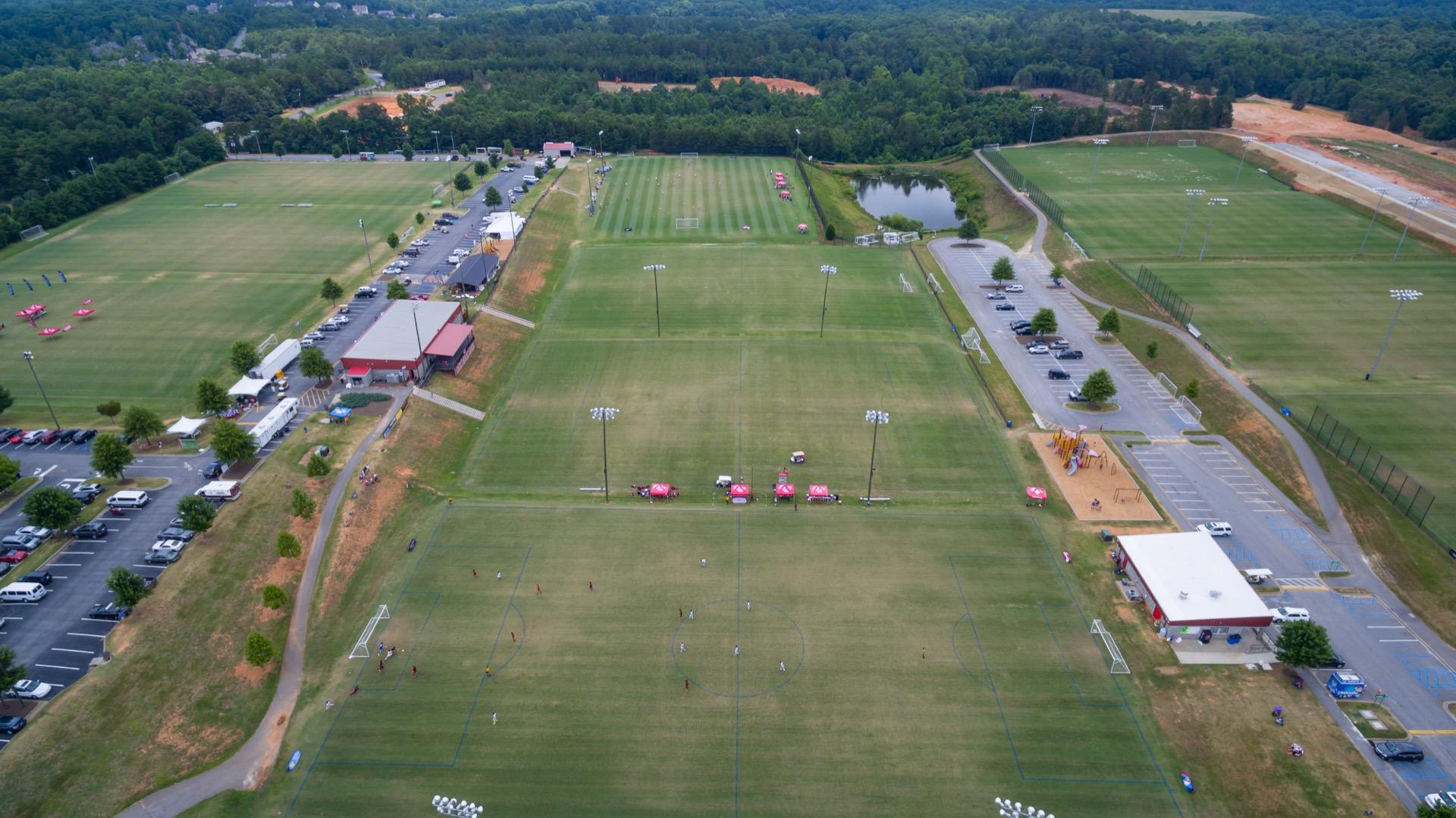 mesa soccer complex aerial view