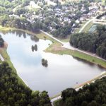 oak grove lake aerial view