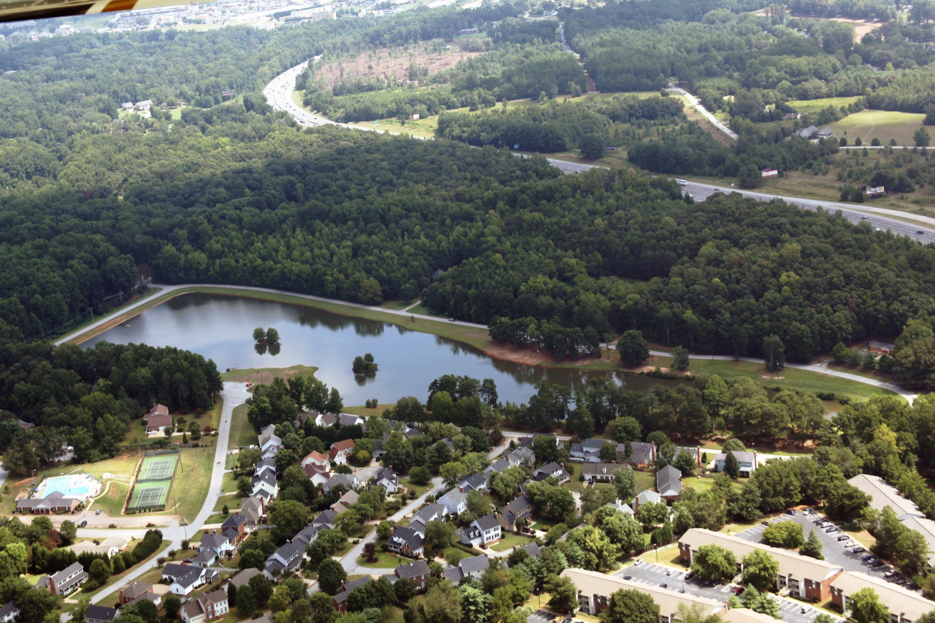 oak grove park aerial view