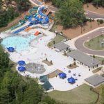 otter creek waterpark aerial view