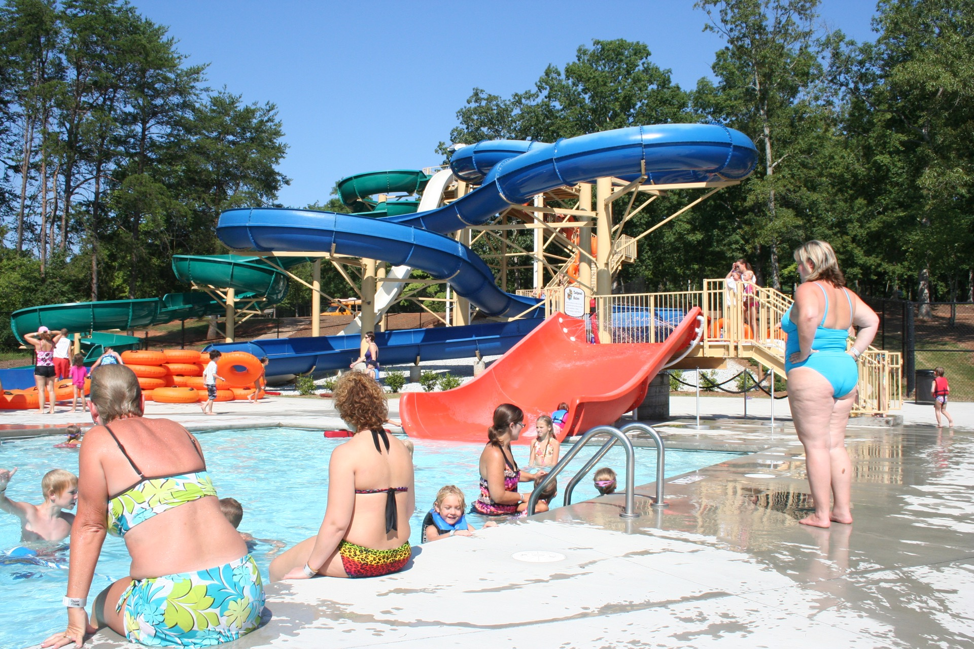 people enjoying a waterpark