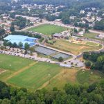 pavilion recreation complex aerial view