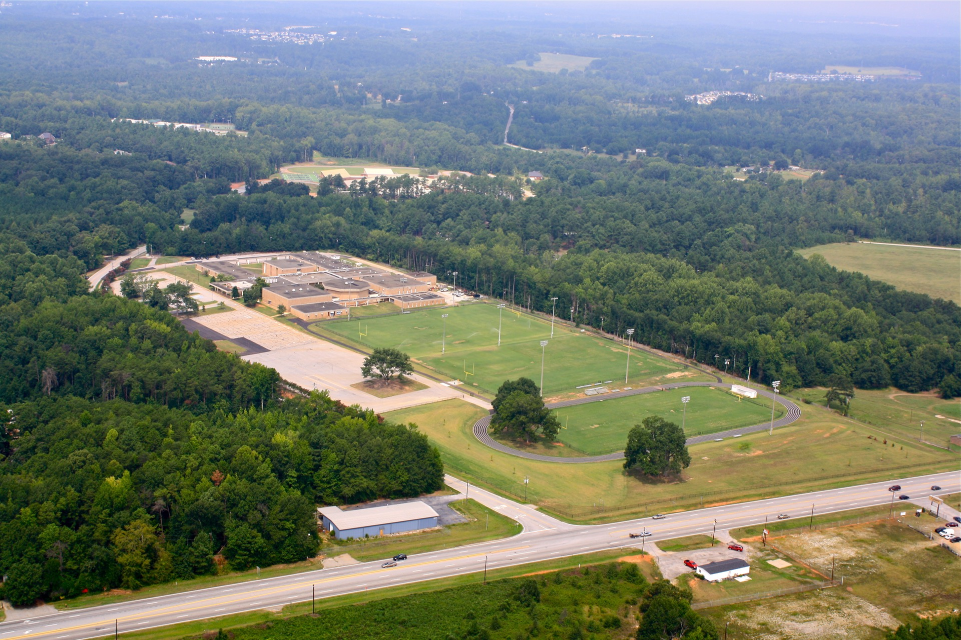 piedmont athletic complex aerial