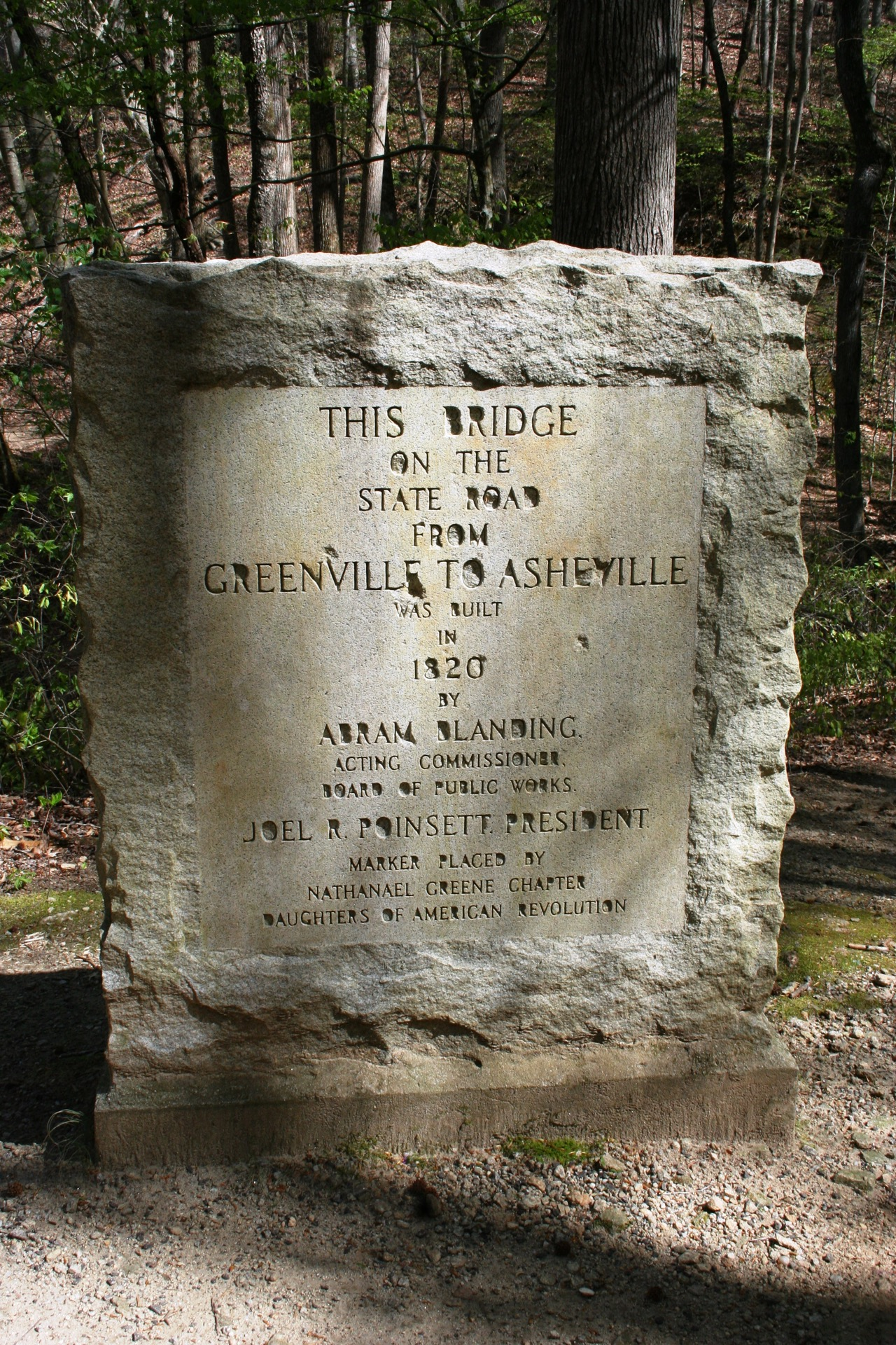 Poinsett Park bridge monument