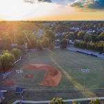 shoeless joe jackson memorial park aerial view