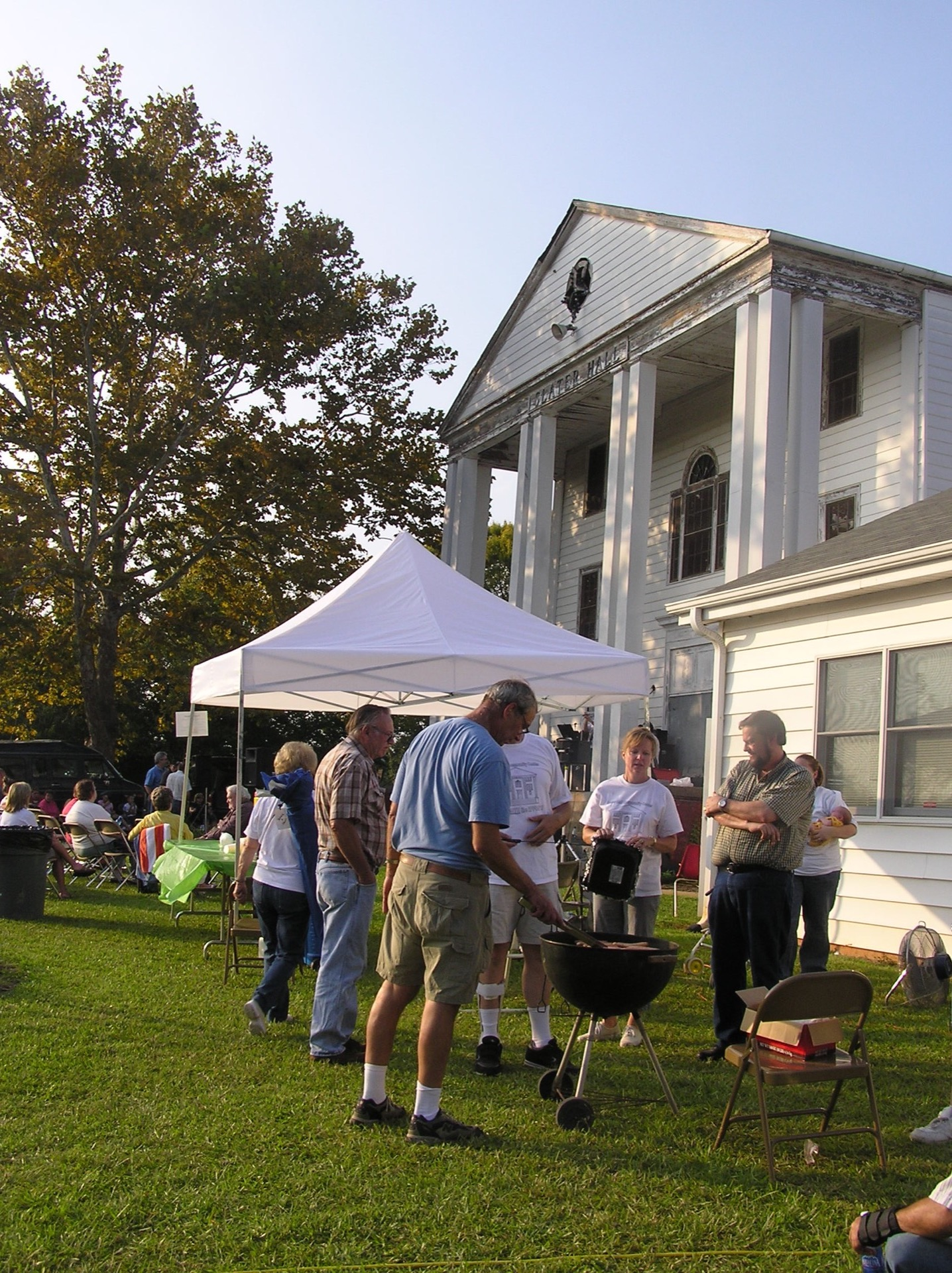 Cookout at community center building