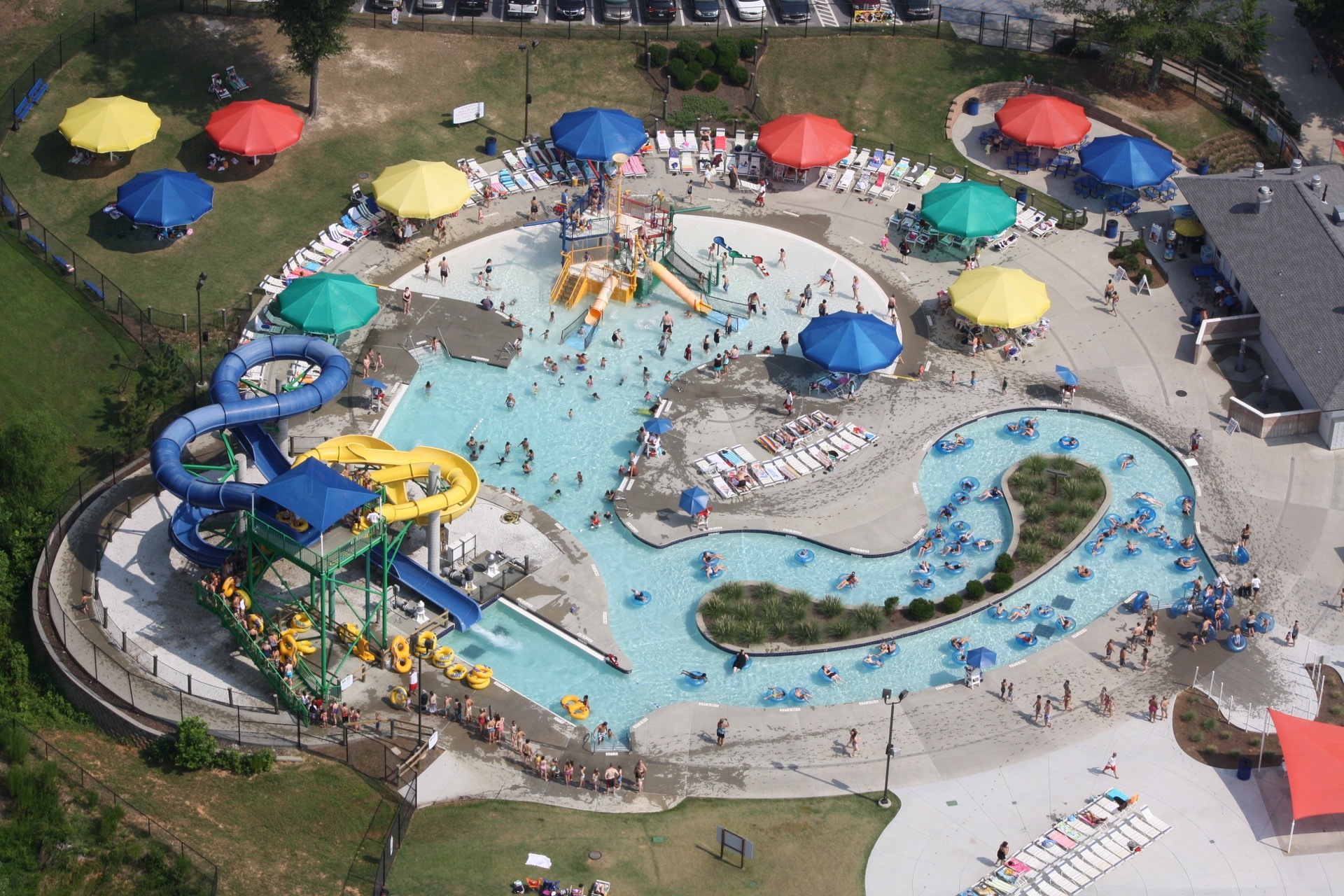 southside park aerial view waterpark