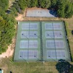southside park aerial view tennis courts