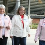 Senior Citizens walking on Furman campus