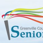 Senior Games logo with man running track