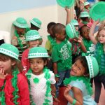 preschoolers dressed as leprechauns