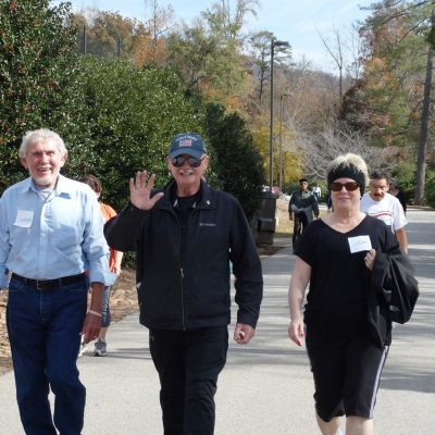 senior adults walking