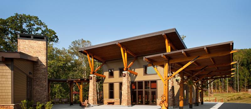building at Pleasant Ridge Camp & Retreat Center