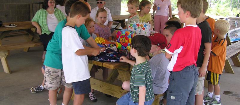 party at picnic shelter
